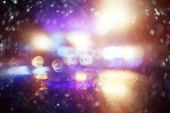 Bokeh city lights blurred background royalty free stock photography
