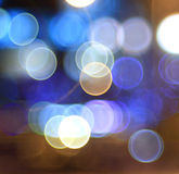 Bokeh city lights blurred background Royalty Free Stock Images