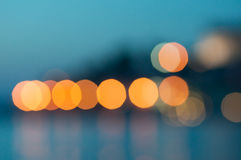 Bokeh city lights Stock Images