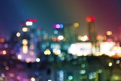 Bokeh City at Night 2 Stock Image