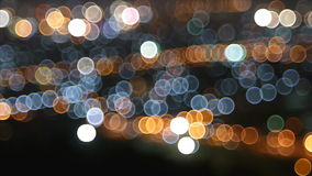 Bokeh of city at night stock footage