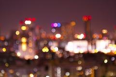 Bokeh City at Night I Royalty Free Stock Photo