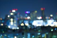 Bokeh City at Night Stock Photos