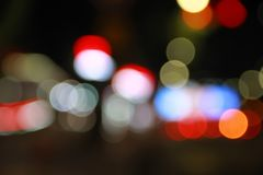 Bokeh city street lights royalty free stock images