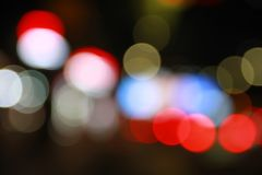 Bokeh city street lights royalty free stock photo