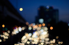 Bokeh cityscape background Stock Images