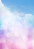 Bokeh Cloud Gradient. An abstract cloudscape with bokeh effects stock photography