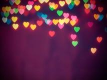 Bokeh coloré de coeur Images libres de droits