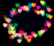 Bokeh coloré de coeur Photo libre de droits