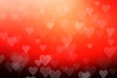 Bokeh coloré de coeur d'abrégé sur tache floue Photo libre de droits