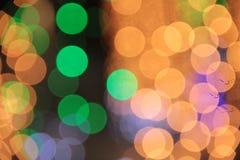 Bokeh coloré de fond de lumière de couleur dans l'événement de Chrismas images stock