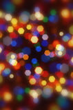 Bokeh coloré de Noël brouillé par abstrait. Photographie stock
