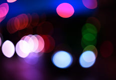 Bokeh color abstract background with defocused lights Stock Images