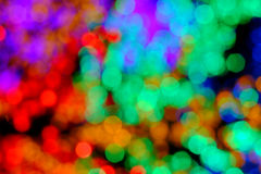 Bokeh of the color night light, blurred background. Stock Image