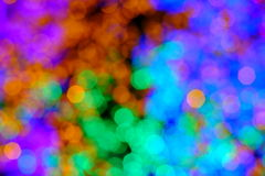 Bokeh of the color night light, blurred background. Stock Photography