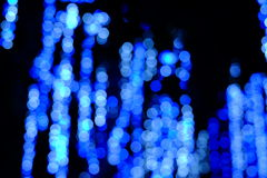Bokeh of the color night light, blurred background. Stock Photo
