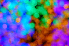Bokeh of the color night light, blurred background. Royalty Free Stock Image