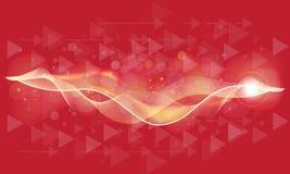 Bokeh colorato d'ardore molle o fondo cosmico astratto con le frecce e le luci scintillanti illustrazione di stock