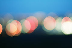 Bokeh colored lights background Stock Images
