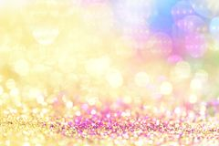 Bokeh colorful blurred abstract background for birthday, anniversary, wedding, new year eve or christmasช Royalty Free Stock Images