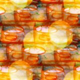 Bokeh colorful brown, yellow pattern water texture Royalty Free Stock Photography