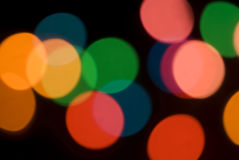 Bokeh of colorful party lights Royalty Free Stock Photos