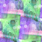Bokeh colorful pattern water texture paint abstract seamless pur Stock Photos