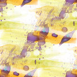 bokeh colorful pattern water texture paint abstract seamless purple, yellow watercolor color background royalty free illustration