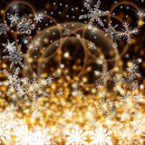 Bokeh colorful xmas background. Abstract christmas illustration Happy New Year - colorful xmas background Royalty Free Stock Photos