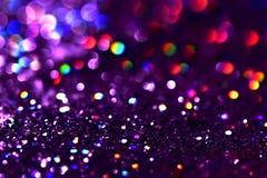 bokeh Colorfull弄脏了生日、周年、婚礼、除夕或者圣诞节的抽象背景 免版税库存图片