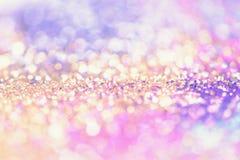 bokeh Colorfull弄脏了生日、周年、婚礼、除夕或者圣诞节的抽象背景 免版税库存照片