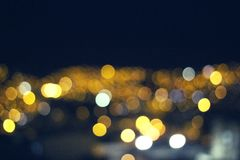 City Bokeh background for hollidays royalty free stock image