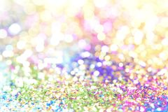 Bokeh Colorfull Blurred abstract background for birthday, anniversary, wedding, new year eve or Christmas.  Royalty Free Stock Photo