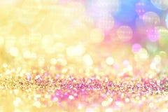 bokeh Colorfull verwischte abstrakten Hintergrund für Geburtstag, Jahrestag, Hochzeit, Sylvesterabend oder Weihnachten lizenzfreie stockbilder