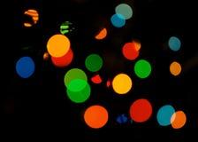 Bokeh colorido Cores diferentes Bokeh, luz abstrata, fundo Fundo colorido do Natal Fundo dos feriados luzes Co Foto de Stock