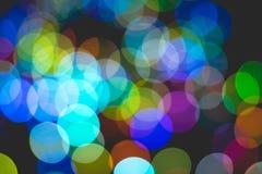 Bokeh colorido da luz Foto de Stock