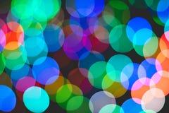 Bokeh colorido da luz Fotos de Stock Royalty Free