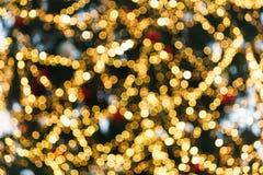 Bokeh colorido de la Navidad Fotos de archivo
