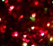 Bokeh colorido de los corazones Imágenes de archivo libres de regalías