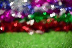 Bokeh colorido de los corazones Foto de archivo libre de regalías