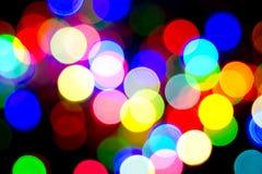 Bokeh colorido de luces Fotografía de archivo libre de regalías
