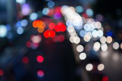 Bokeh colorido del tráfico Fotos de archivo libres de regalías
