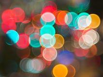Bokeh of the colour night light Stock Photos