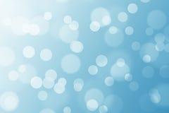 Bokeh con fondo blu Fotografia Stock Libera da Diritti