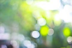 Bokeh con la luz verde imágenes de archivo libres de regalías