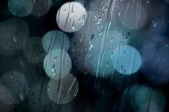 Bokeh con lluvia Fotografía de archivo libre de regalías