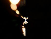 Bokeh copyspace. City lights in the background with blurring spots of  light Royalty Free Stock Photo