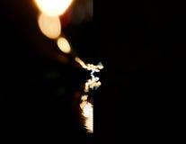 Bokeh copyspace Staden tänder i bakgrunden med görande suddig fläckar av ljus Royaltyfri Foto
