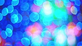 Bokeh cristalino sucio defocused de los elementos del extracto Bokeh multicolor hermoso, escape ligero almacen de metraje de vídeo