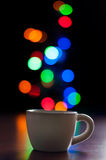 Bokeh Cup Royalty Free Stock Photography